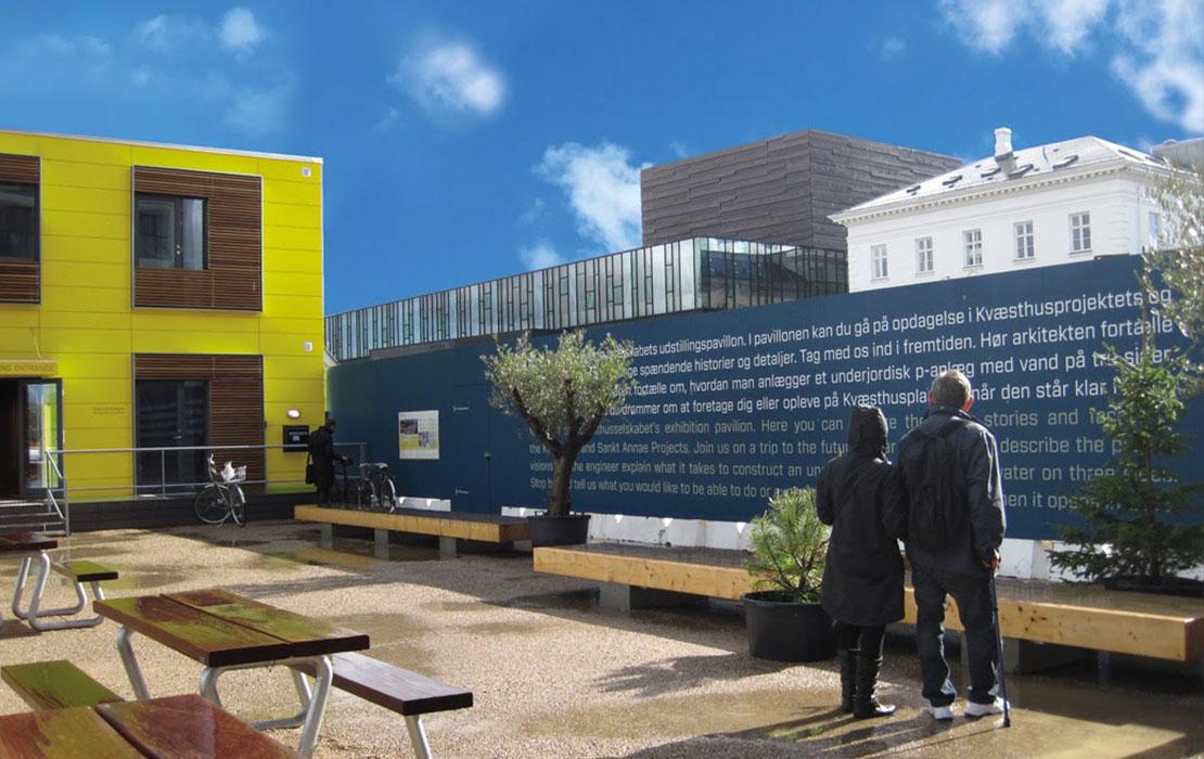 Udstillingspavillion, exponent, kvæsthusmolen, kvæsthusprojektet
