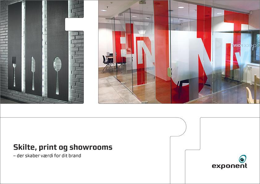 Brochure, Skilte, print og showrooms