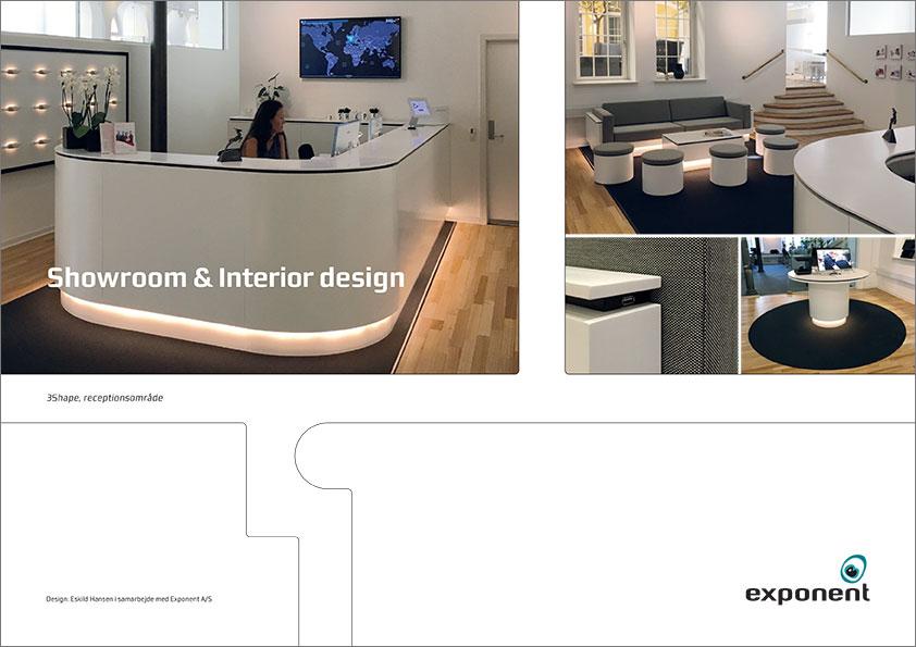 Brochure exponent interiør og design