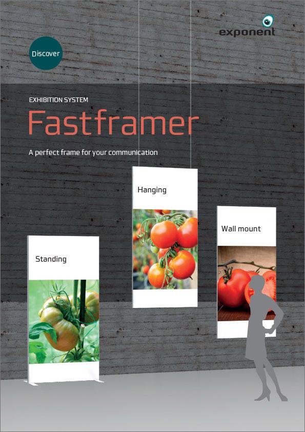 Fastframer, udstillingssystem, produktark, exponent