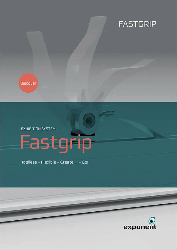 Fastgrip, udstillingssystem, produktark, exponent