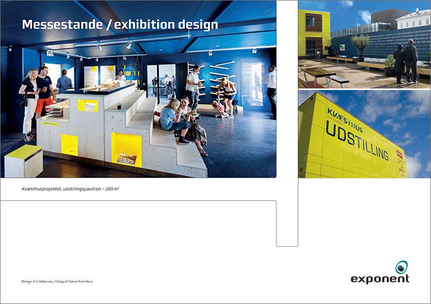Brochure, Messestande, udstilling, exponent