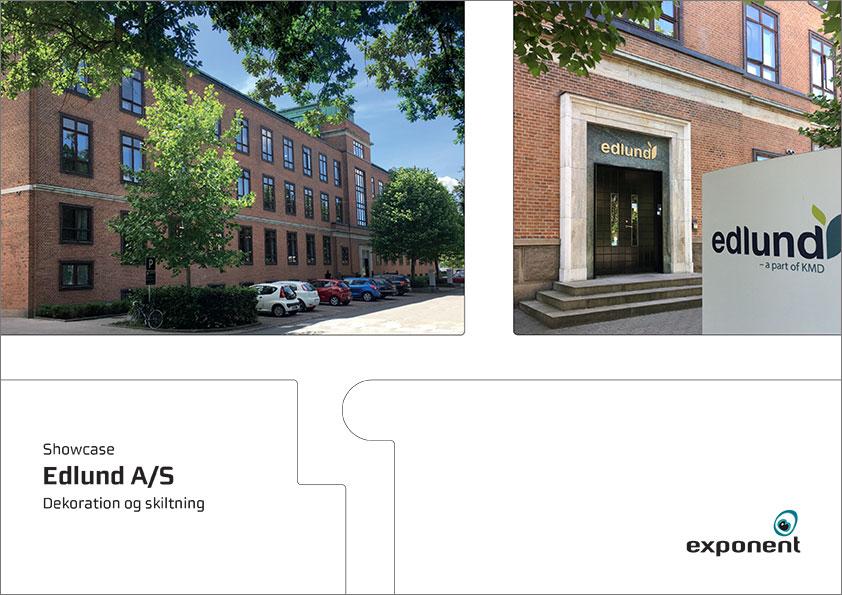 Brochure, Edlund, Dekoration og skiltning