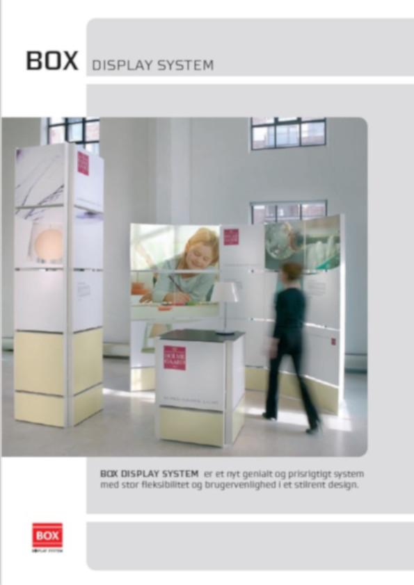 BOX display, Produktark exponent
