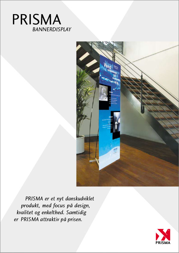 Prisma bannerdisplay, produktark, exponent
