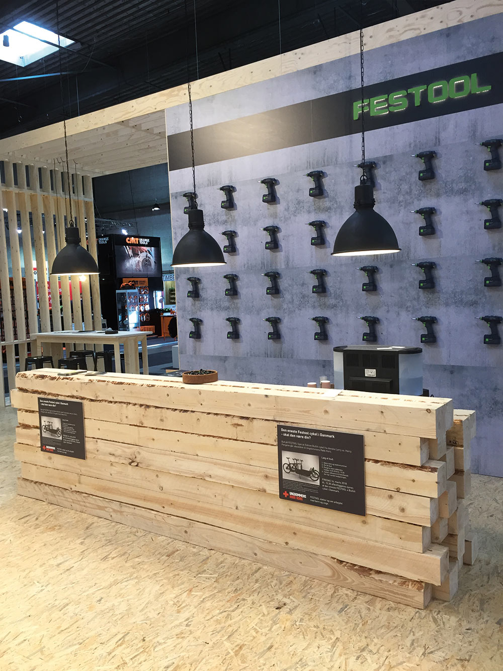 Festool, messestand, exponent